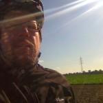 Beim Fahrradfahren in der Pfalz (am 13.10.2011).