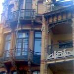 Jugenstil-Haus in Brüssel (Details).