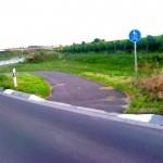 Kurzer Fahrradweg.