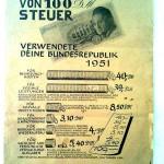 Info-Blatt über Steuern von 1951